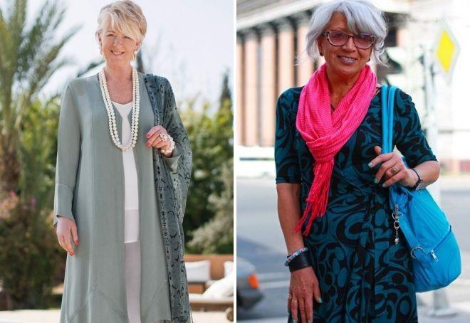 туника зеленая под брюки платье зеленое с черным под розовый шарф для женщин после 50 лет