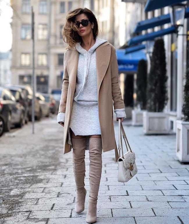Всегда в моде и стильная: как носить бежевый и выглядеть дорого, фото пальто