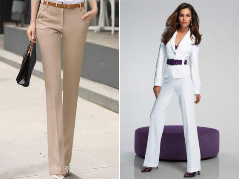 Как и с чем носить женские брюки: стильные сочетания