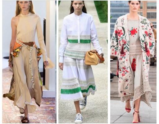 трендовые платья и юбки в новом весенне-летнем сезоне , в стиле бохо