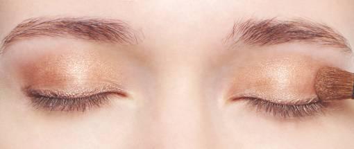 макияж в бронзовых тонах