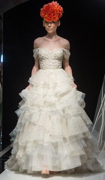 модное свадебное платье с пышной юбкой Dany Mizrachi