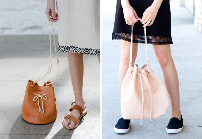 кожаная сумка мешок
