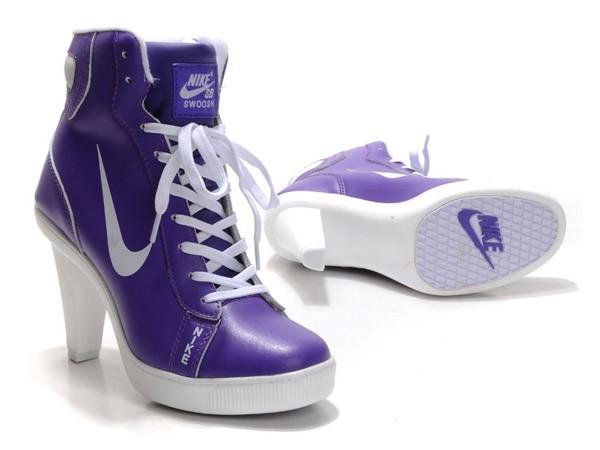 кеды на каблуке фиолетовые
