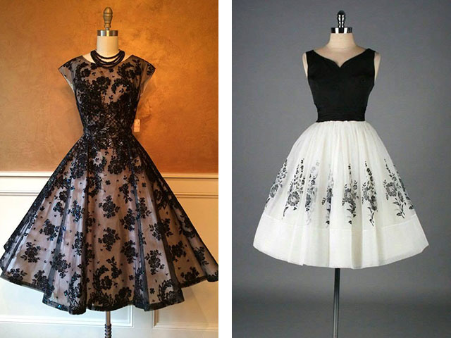 Платья в ретро стиле с пышной юбкой