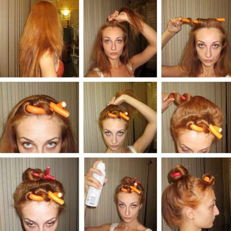 Посмотрите, как накрутить волосы на бигуди-бумеранги.