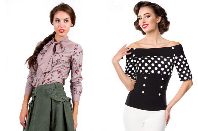 одежда в стиле ретро для девушек