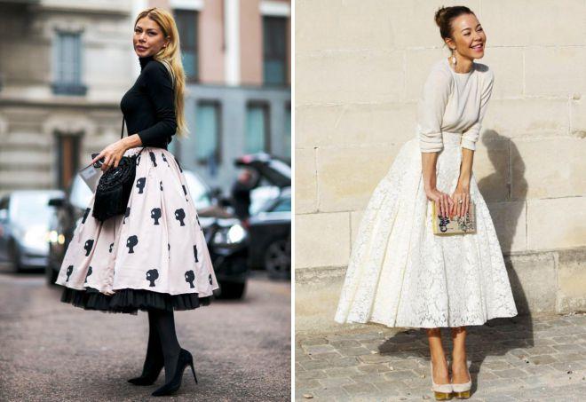 юбки в стиле ретро