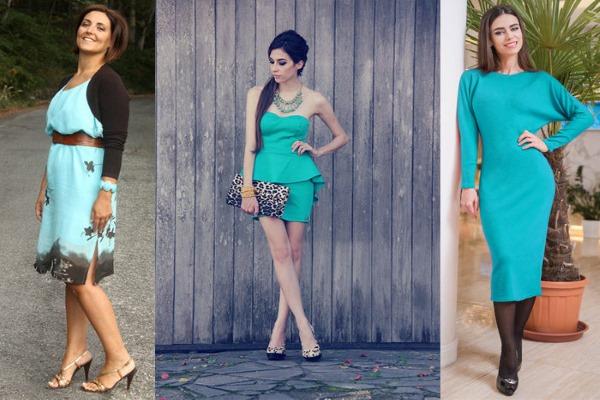С какими цветами сочетается голубой цвет в одежде. Фото, что означает, с чем носить, кому идет