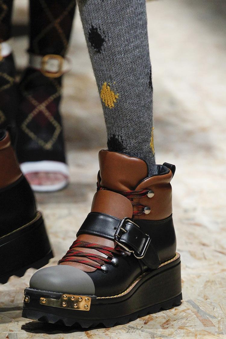 Ботинки с мехом на платформе