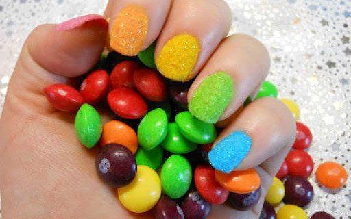 Разноцветный замшевый дизайн