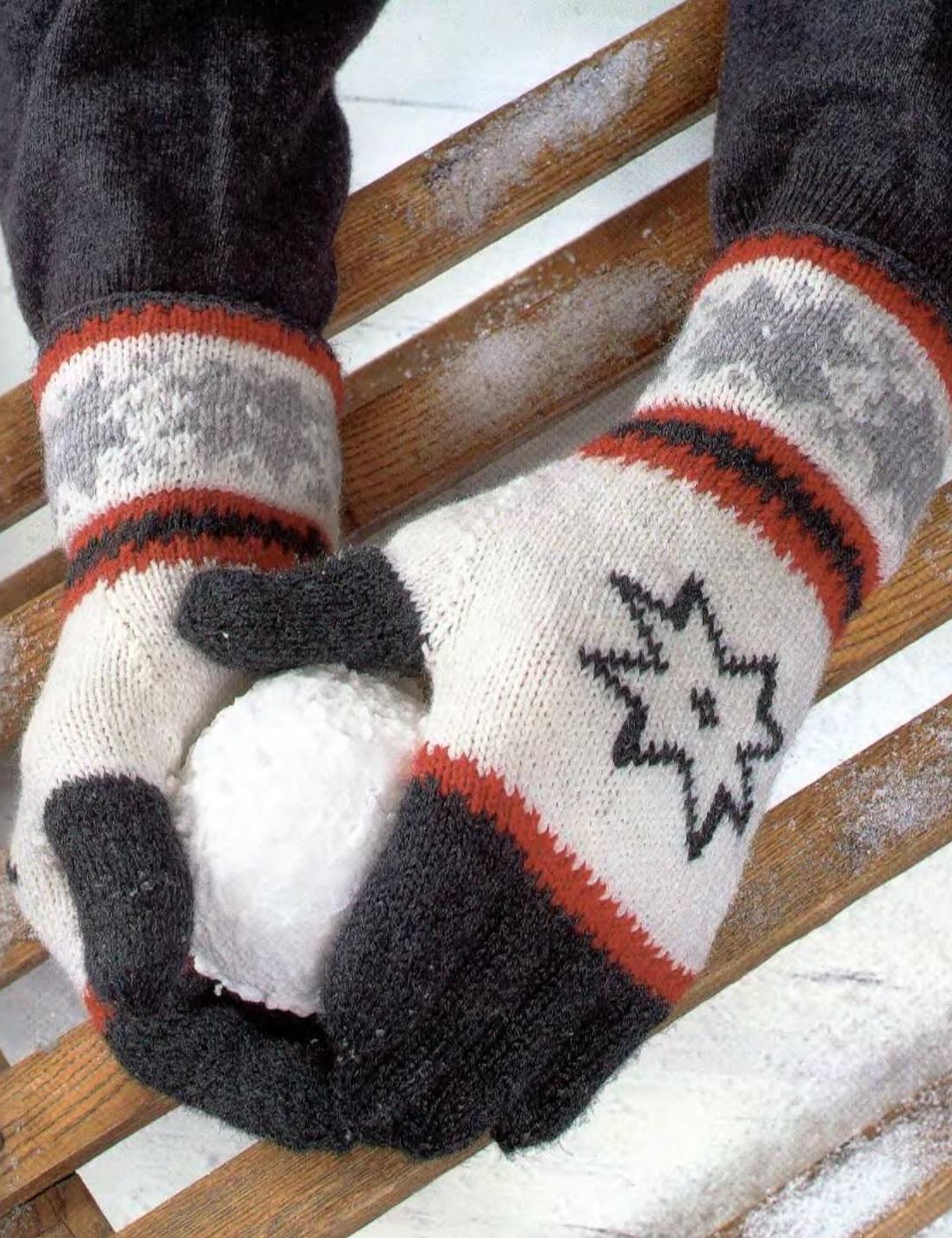 Мужские перчатки с рисунком