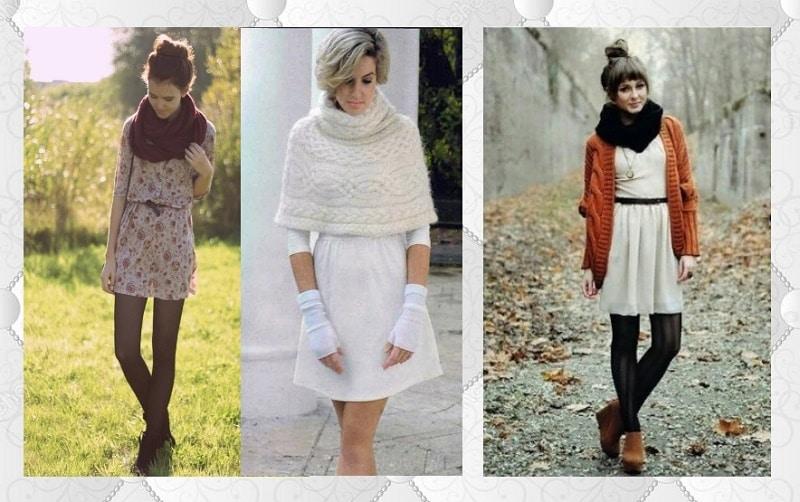 Снуд с платьем