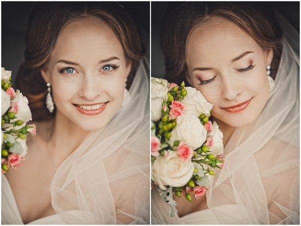 красивый и модный свадебный макияж, фото осенне-зимнего сезона 2016-2017 2