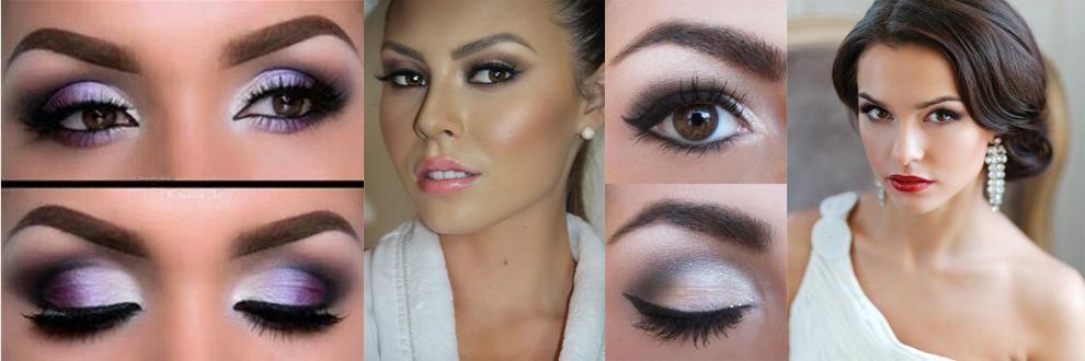 свадебный макияж для карих глаз 1