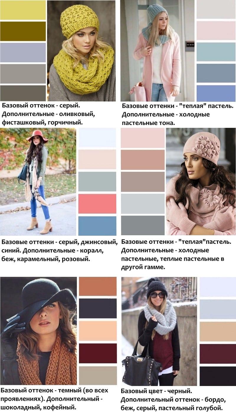 Таблицы: как подобрать цветовую гамму образа со снудом