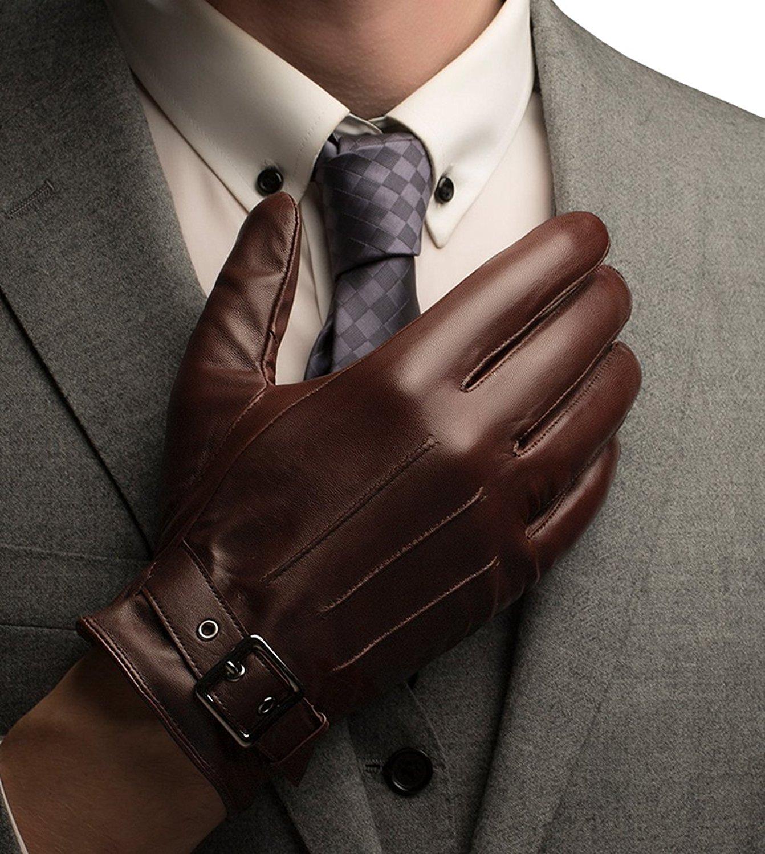 Мужские перчатки темные