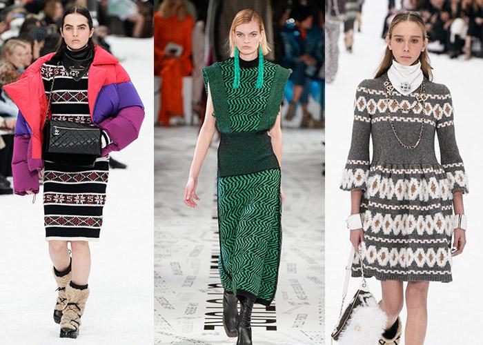 Теплые трикотажные платья