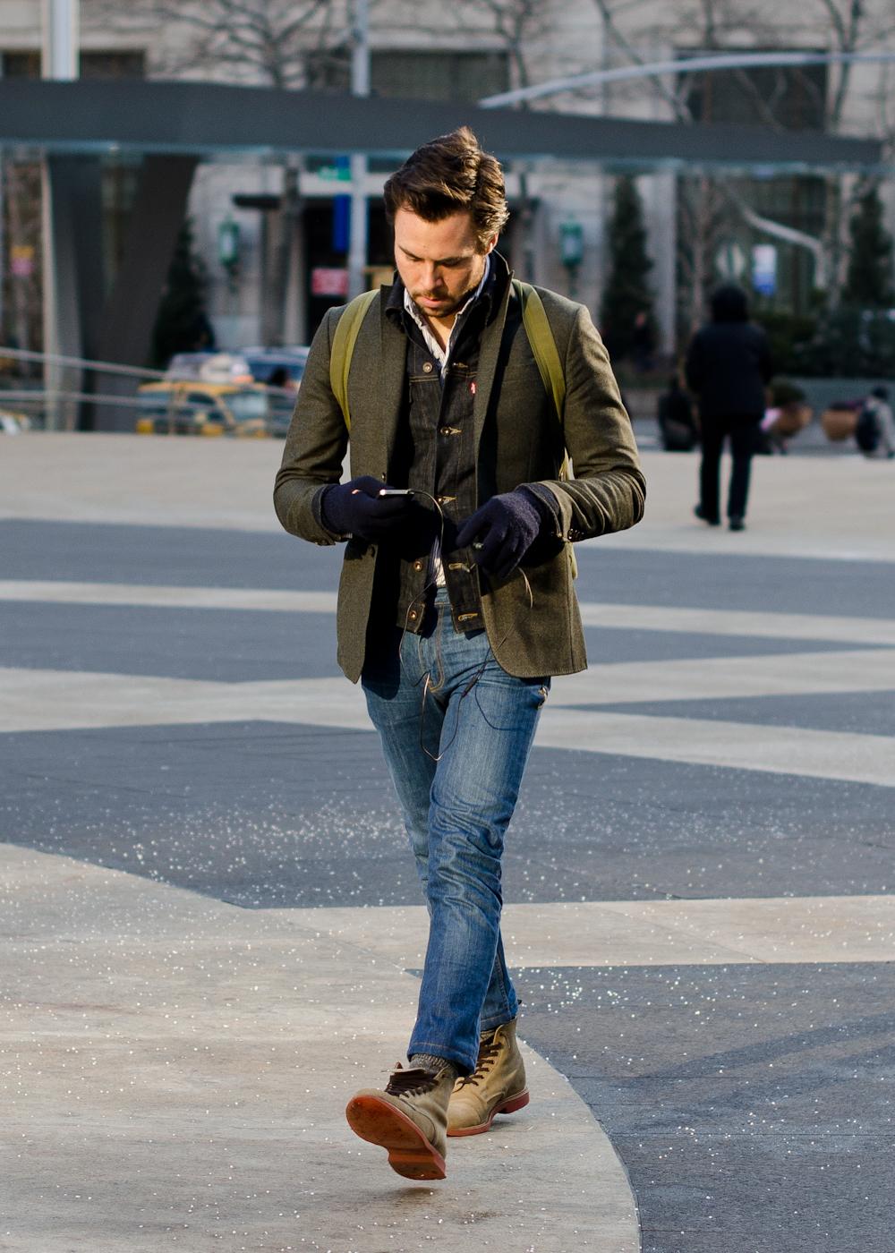 Мужские перчатки тачпад