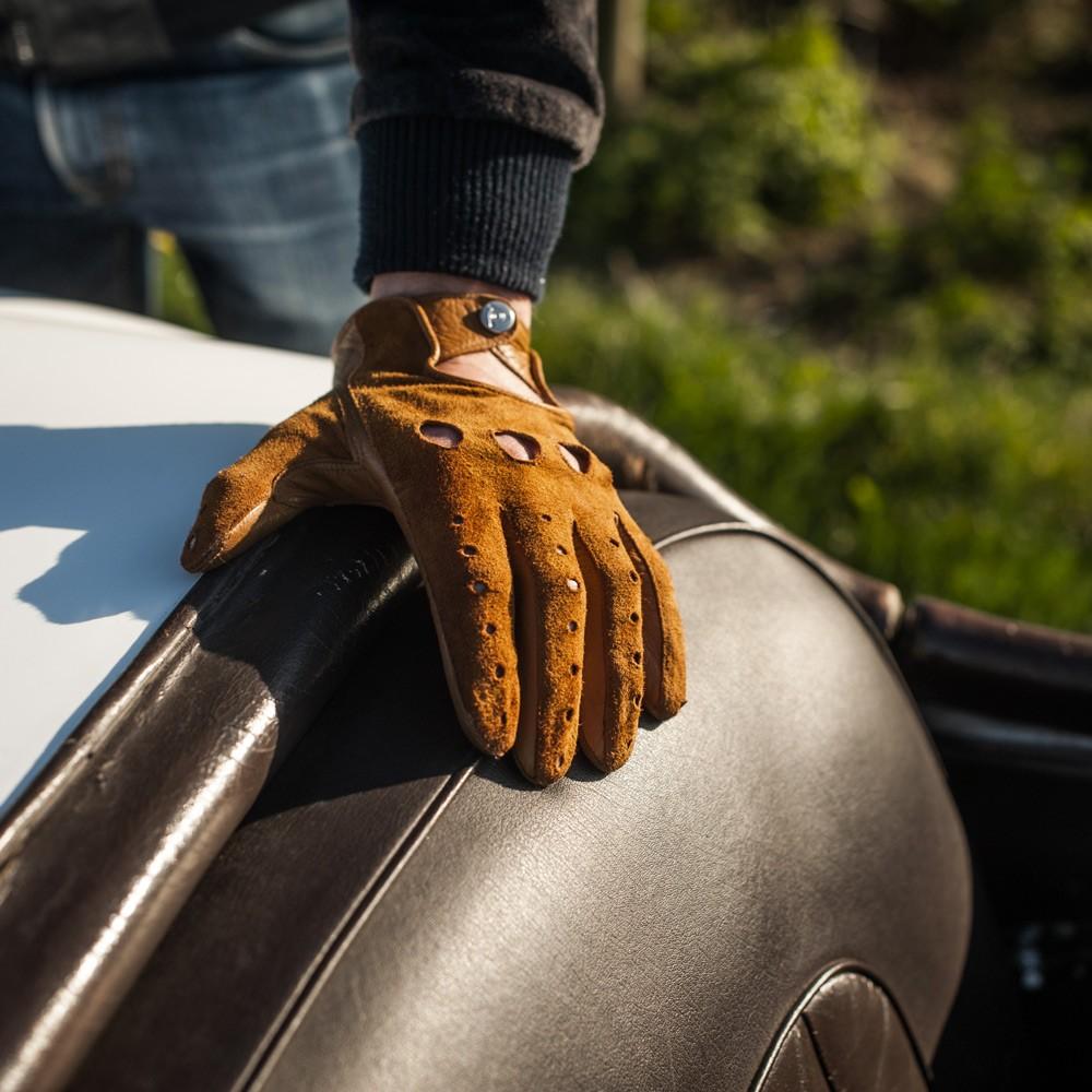 Мужские желтые перчатки