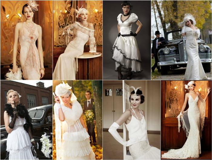 Гангстерский стиль в одежде невесты