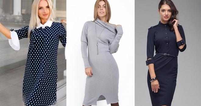 Платье с воротником – 44 фото красивых платьев с воротничком на все случаи жизни