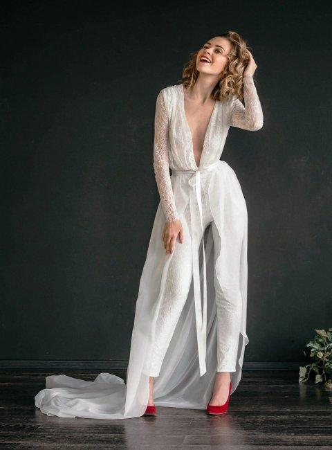 Платье-комбинезон на свадьбу