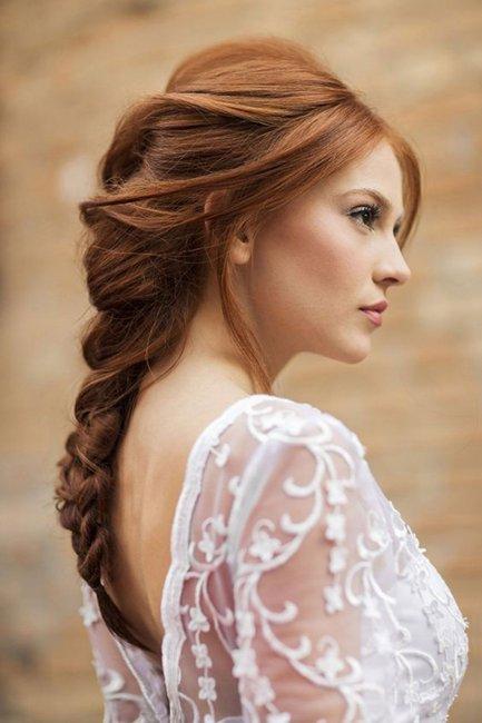Косы в образе невесты