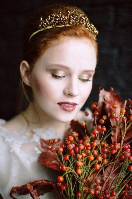Макияж для рыжих невест