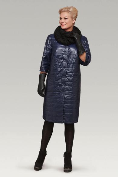 Стеганое женское демисезонное пальто с кожаными перчатками - Блог | Фаворитти