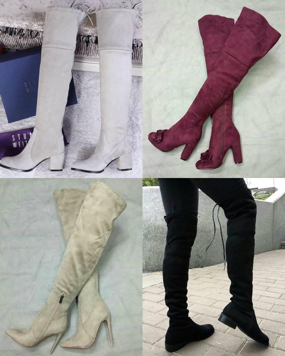 виды каблуков у ботфортов