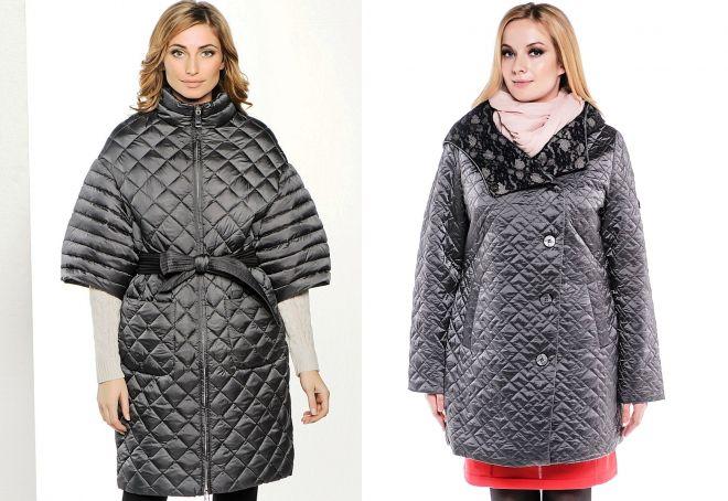 стеганое пальто для полных женщин