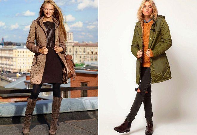 с чем носить стеганое пальто