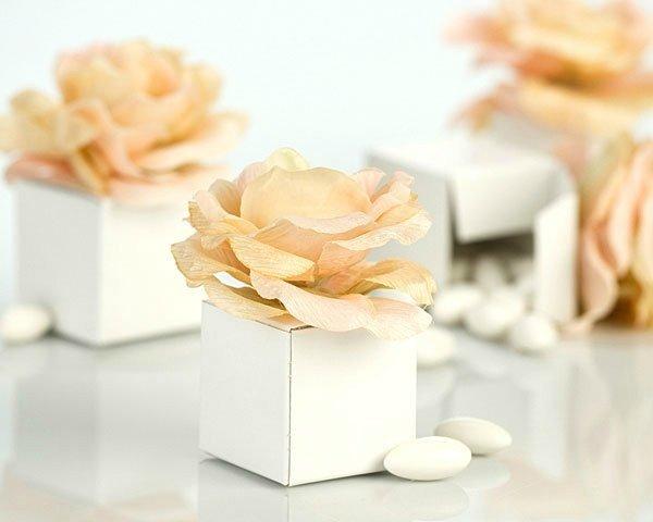 Бонбоньерки для свадьбы в цвете айвори