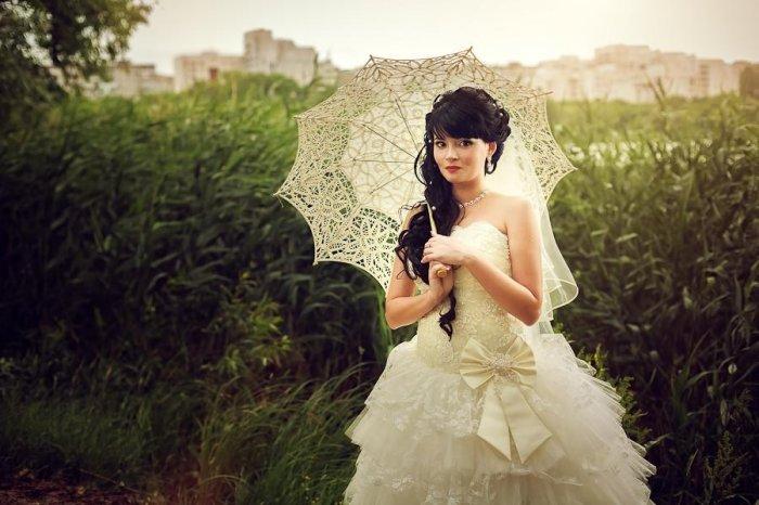 Зонт для фотосессии в цвете айвори
