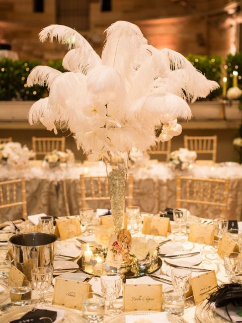 Свадьба в стиле Гэтсби в цвете айвори